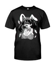 Ahegao t shirt lewd anime shirt and rabbit co Classic T-Shirt front