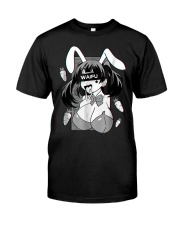 Ahegao t shirt lewd anime shirt and rabbit co Premium Fit Mens Tee thumbnail