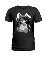 Ahegao t shirt lewd anime shirt and rabbit co Ladies T-Shirt thumbnail