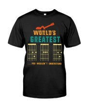 Retro Worlds Greatest Dad Shirt Funny Gui Classic T-Shirt front