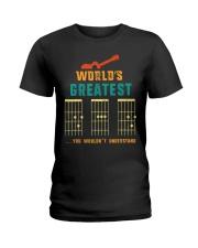Retro Worlds Greatest Dad Shirt Funny Gui Ladies T-Shirt thumbnail