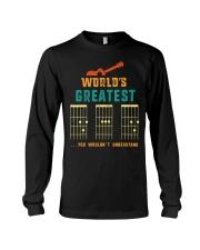 Retro Worlds Greatest Dad Shirt Funny Gui Long Sleeve Tee thumbnail