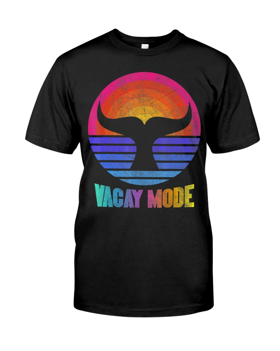 Funny Vacay Mode Beach Palms Cruise Vibes  Classic T-Shirt
