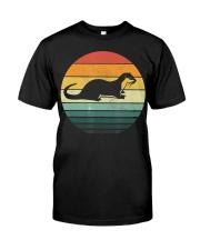 Sea Otter Shirt Sunset Retro Vintage 70s An Classic T-Shirt front