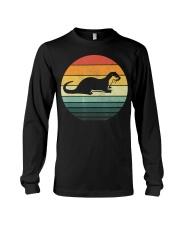 Sea Otter Shirt Sunset Retro Vintage 70s An Long Sleeve Tee thumbnail