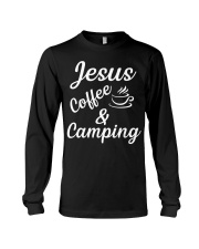 Jesus coffe camping T-Shirt Long Sleeve Tee tile