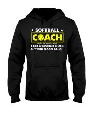Softball Coach Like Baseball Bigger Balls Hooded Sweatshirt thumbnail