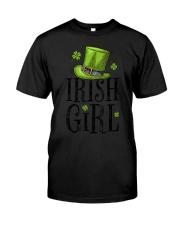 Irish Girl T shirt St Patricks Day Irish W Classic T-Shirt front