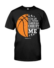 Christian Basketball Shirt I Can Do All Things Phi Classic T-Shirt front