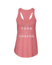 will yoga for cookies Ladies Flowy Tank front