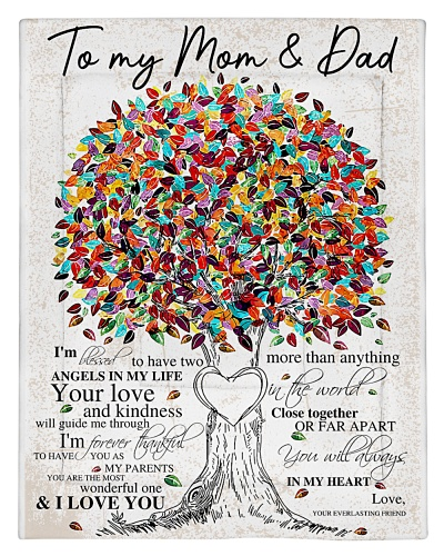 To My Mom And Dad Mother Day Fleece Blanket Gift