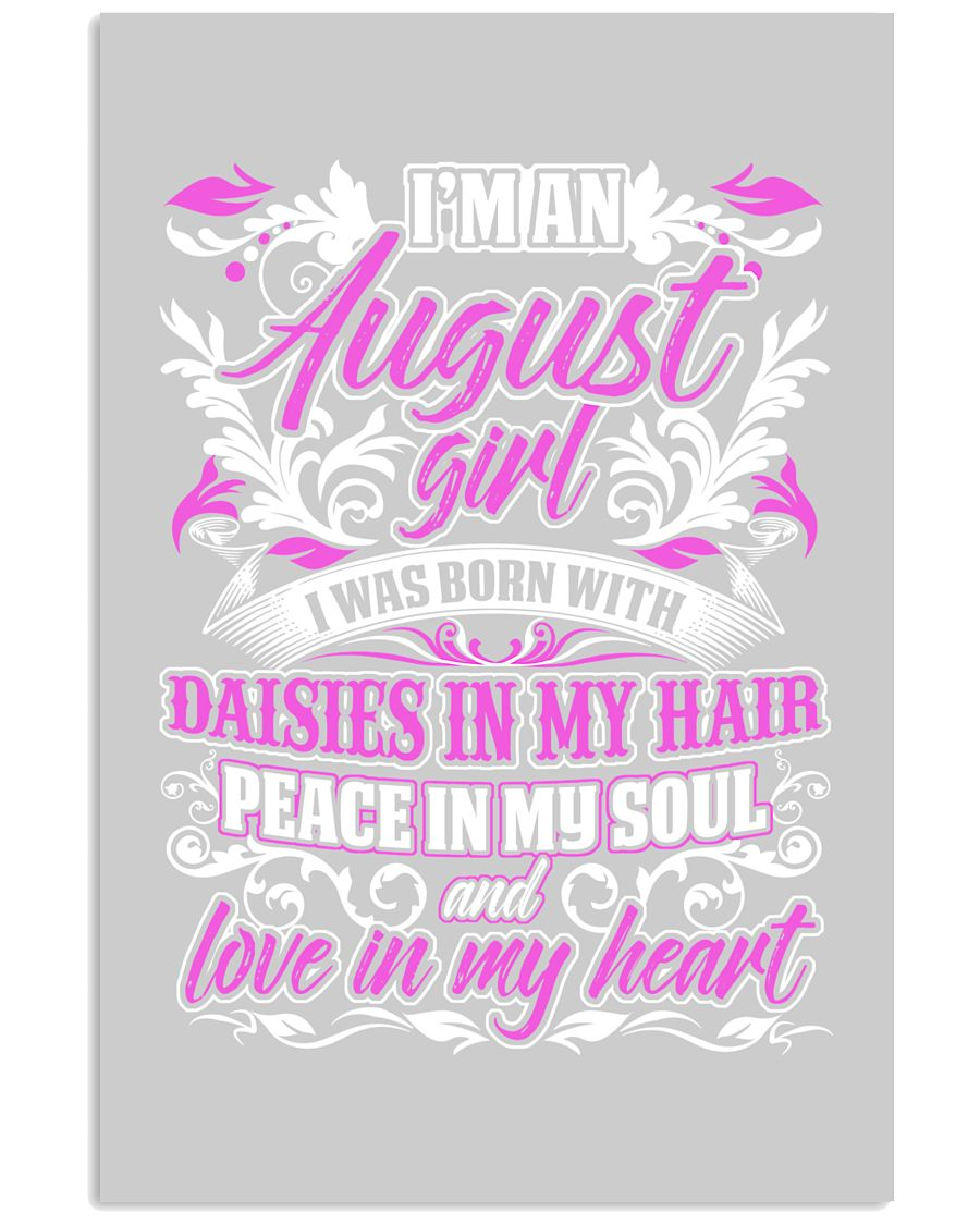 August Girl With Daisies 24x36 Poster