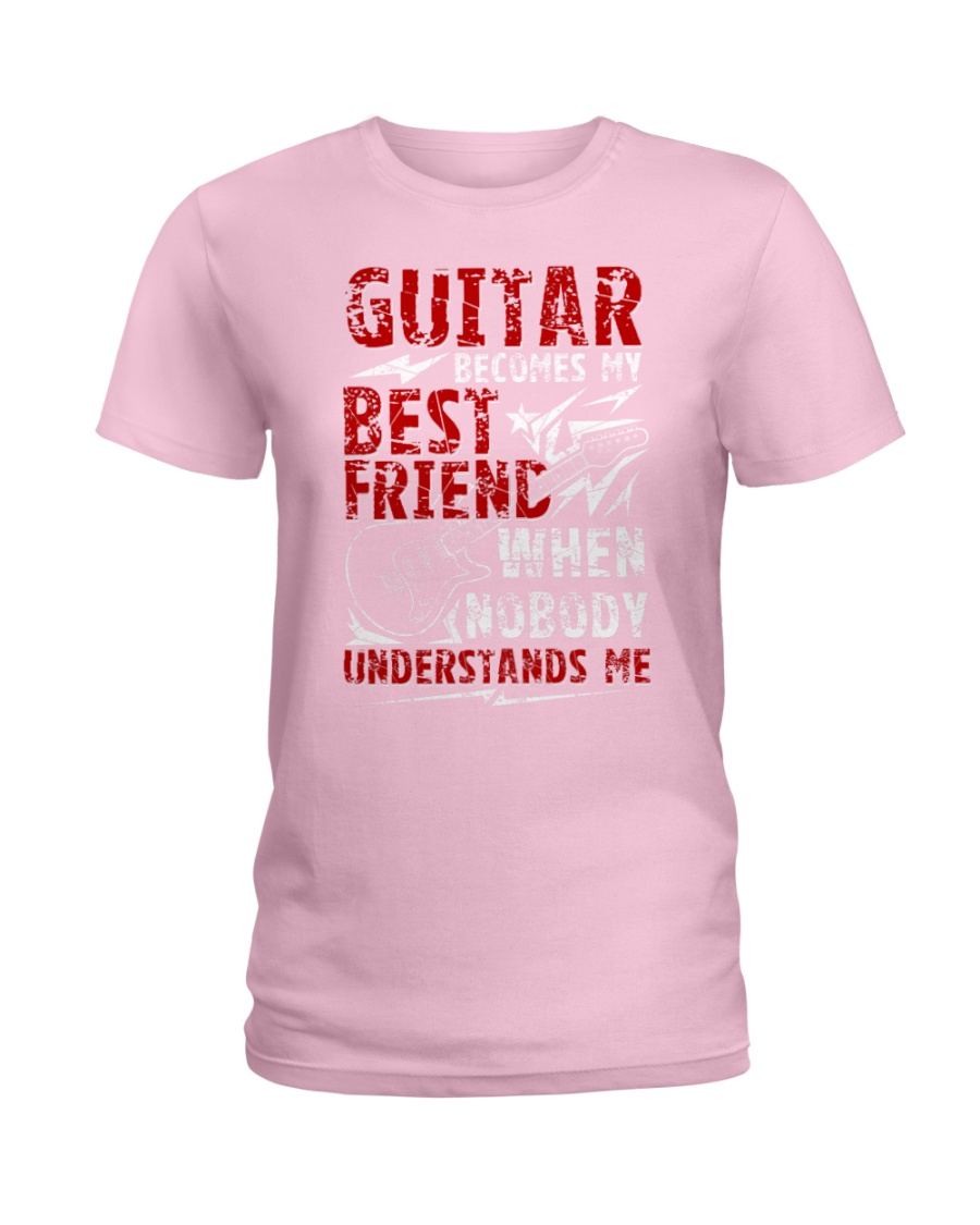 Guitar Become My Best Friend Ladies T-Shirt