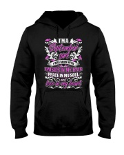 September Girl With Daisies Hooded Sweatshirt thumbnail