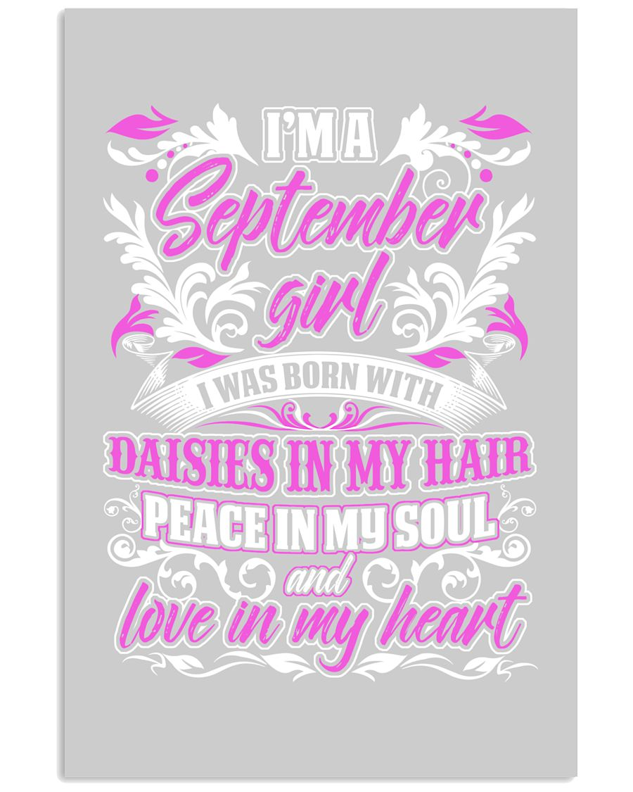 September Girl With Daisies 11x17 Poster