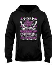June Girl With Daisies Hooded Sweatshirt thumbnail