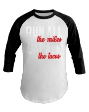 run all eat all Baseball Tee front