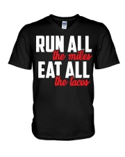 run all eat all V-Neck T-Shirt thumbnail