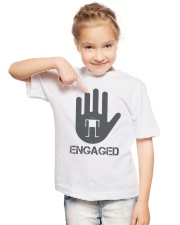 Stop I am Engaged Youth T-Shirt lifestyle-youth-tshirt-front-2