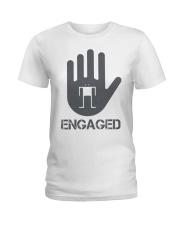 Stop I am Engaged Ladies T-Shirt thumbnail