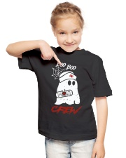 Boo Boo Crew Nurse Ghost Halloween Costume Gift Youth T-Shirt lifestyle-youth-tshirt-front-2