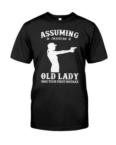 Assuming I'm Just An Old Lady Gun TShirt