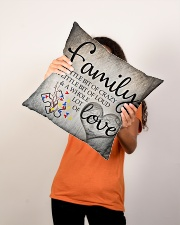 "Autism Family Birthday Mother Day Gift 2020 Indoor Pillow - 16"" x 16"" aos-decorative-pillow-lifestyle-front-08"