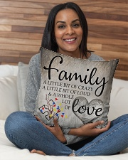 "Autism Family Birthday Mother Day Gift 2020 Indoor Pillow - 16"" x 16"" aos-decorative-pillow-lifestyle-front-11"