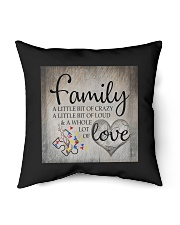 "Autism Family Birthday Mother Day Gift 2020 Indoor Pillow - 16"" x 16"" back"