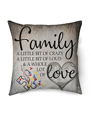 "Autism Family Birthday Mother Day Gift 2020 Indoor Pillow - 16"" x 16"" front"