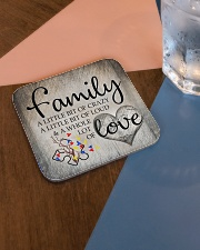 Autism Family Birthday Mother Day Gift 2020 Square Coaster aos-homeandliving-coasters-square-lifestyle-01