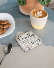 Autism Family Birthday Mother Day Gift 2020 Square Coaster aos-homeandliving-coasters-square-lifestyle-02