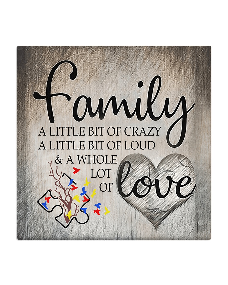 Autism Family Birthday Mother Day Gift 2020 Square Coaster