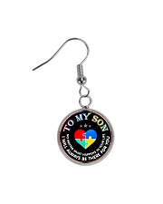 Autism To My Son No Matter What Happen Mom  Circle Earrings thumbnail