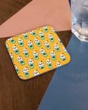 Coffee Fabric Cloth Face Mask 2020 Square Coaster aos-homeandliving-coasters-square-lifestyle-01
