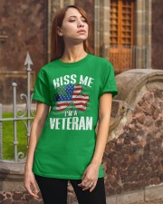 KISS ME I AM A IRISH VETERAN  Classic T-Shirt apparel-classic-tshirt-lifestyle-06