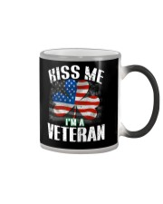 KISS ME I AM A IRISH VETERAN  Color Changing Mug thumbnail