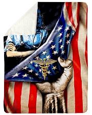 "Nurse usa flag 2020 Large Sherpa Fleece Blanket - 60"" x 80"" thumbnail"