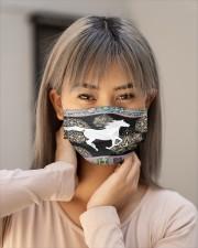 Horse mandala mask Cloth Face Mask - 3 Pack aos-face-mask-lifestyle-18