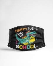 Dinosaur Happy 100 days of school Cloth face mask aos-face-mask-lifestyle-22