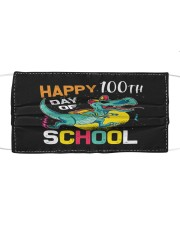 Dinosaur Happy 100 days of school Cloth face mask front