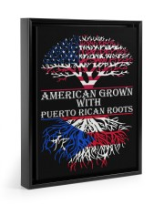 American with Puerto rican roots 11x14 Black Floating Framed Canvas Prints thumbnail