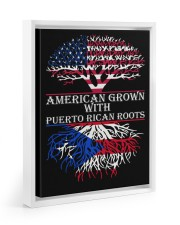 American with Puerto rican roots 11x14 White Floating Framed Canvas Prints thumbnail