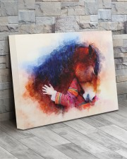 Horse girl love 20x16 Gallery Wrapped Canvas Prints aos-canvas-pgw-20x16-lifestyle-front-20