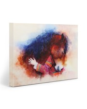 Horse girl love 20x16 Gallery Wrapped Canvas Prints front