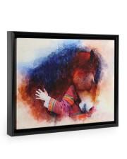 Horse girl love 14x11 Black Floating Framed Canvas Prints thumbnail