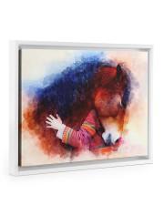 Horse girl love 14x11 White Floating Framed Canvas Prints thumbnail