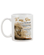 To my son mom lion never feel mug Mug back