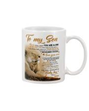 To my son mom lion never feel mug Mug front