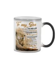 To my son mom lion never feel mug Color Changing Mug thumbnail